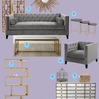 Monthly Mood Board – Glitz and Glamour