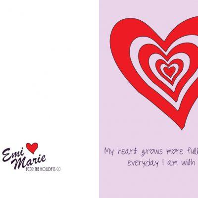 Valentine's Day Card – Free Printable