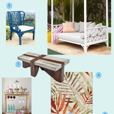 April Monthly Mood Board – Tropical Escape