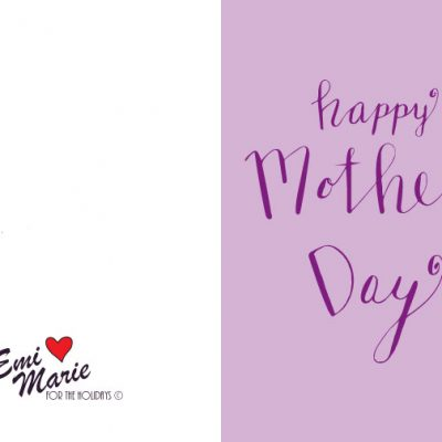Happy Mother's Day – Free Printable Calligraphy Card