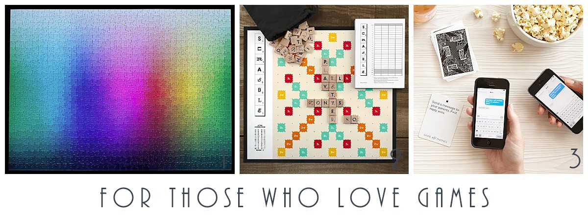 FOR THOSE WHO LOVE GAMES - STUDIO EM INTERIORS 2017 GIFT GUIDE